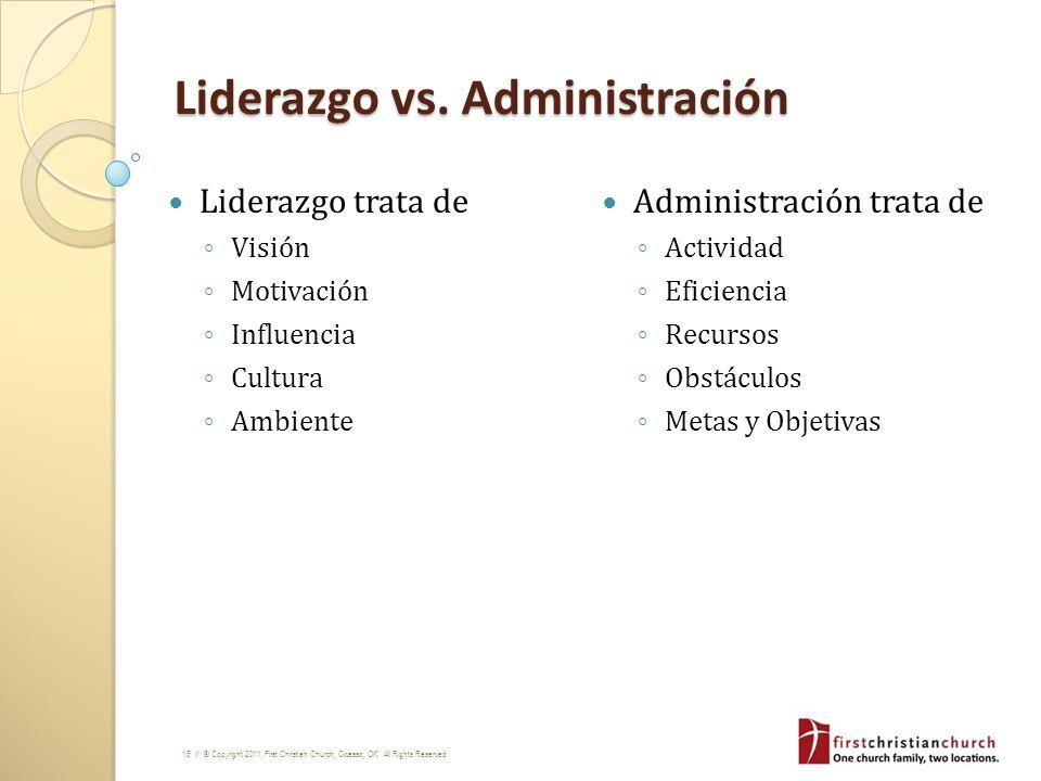 Liderazgo vs. Administración