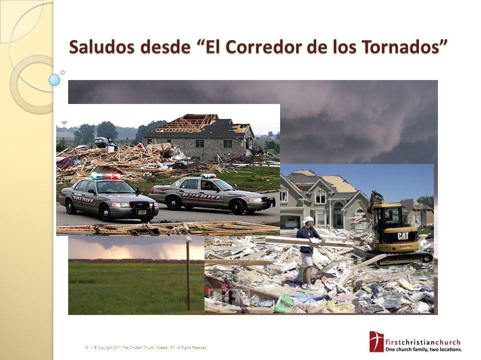 Saludos desde El Corredor de los Tornados