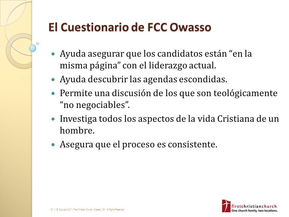 El Cuestionario de FCC Owasso