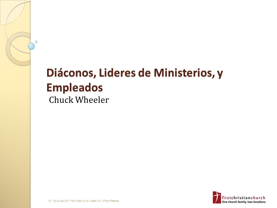 Diáconos, Lideres de Ministerios, y Empleados