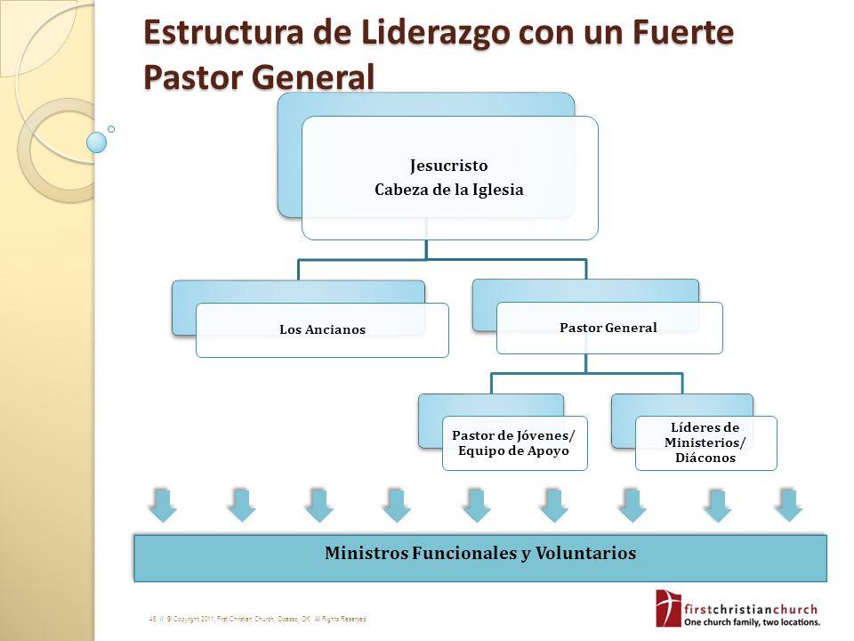 Estructura de Liderazgo con un Fuerte Pastor General