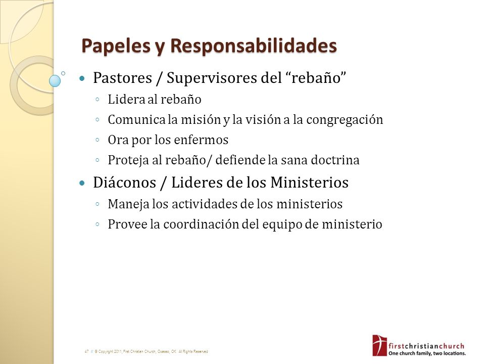 Papeles y Responsabilidades