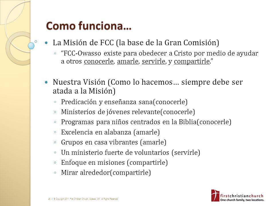 Como funciona… La Misión de FCC (la base de la Gran Comisión)