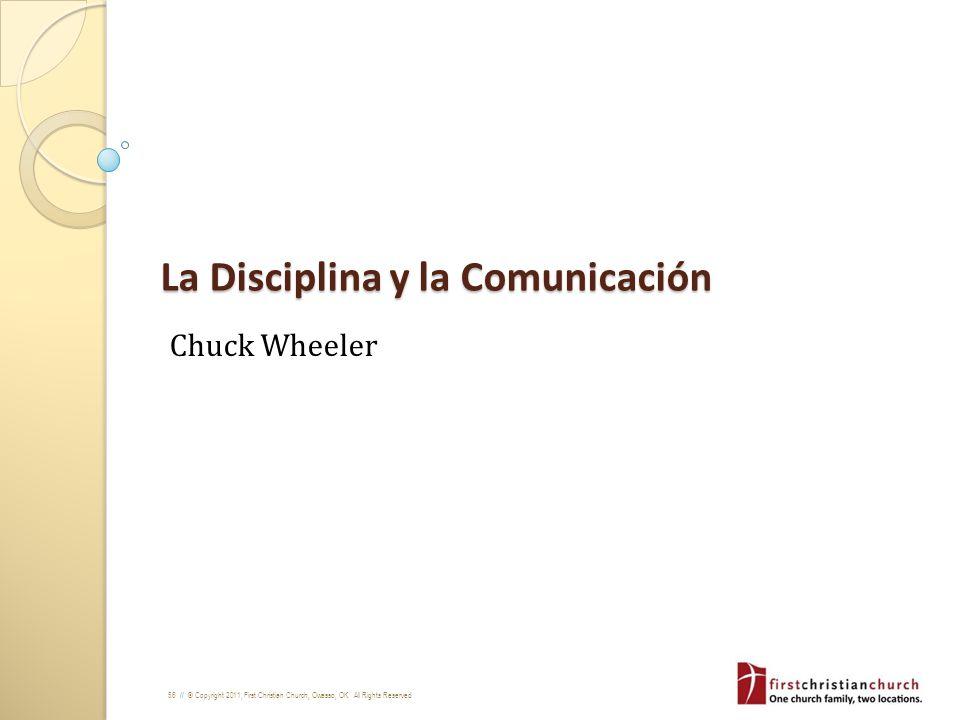 La Disciplina y la Comunicación