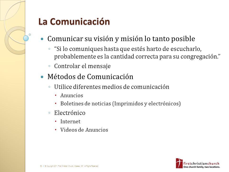 La Comunicación Comunicar su visión y misión lo tanto posible