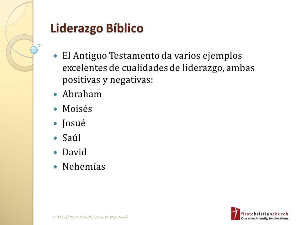 Liderazgo BíblicoEl Antiguo Testamento da varios ejemplos excelentes de cualidades de liderazgo, ambas positivas y negativas: