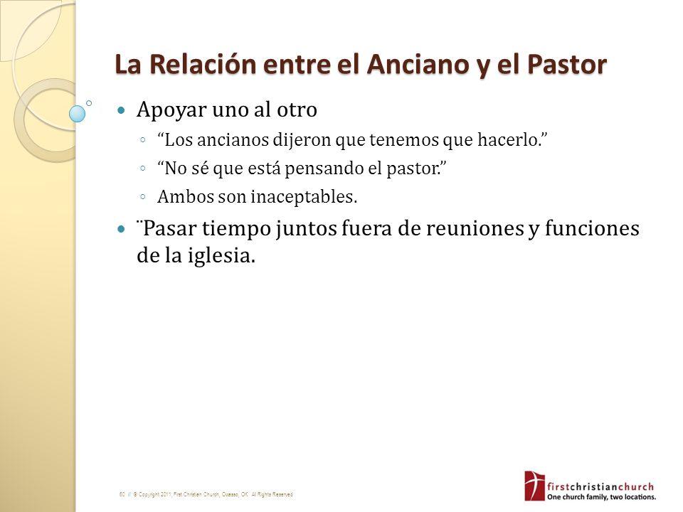 La Relación entre el Anciano y el Pastor