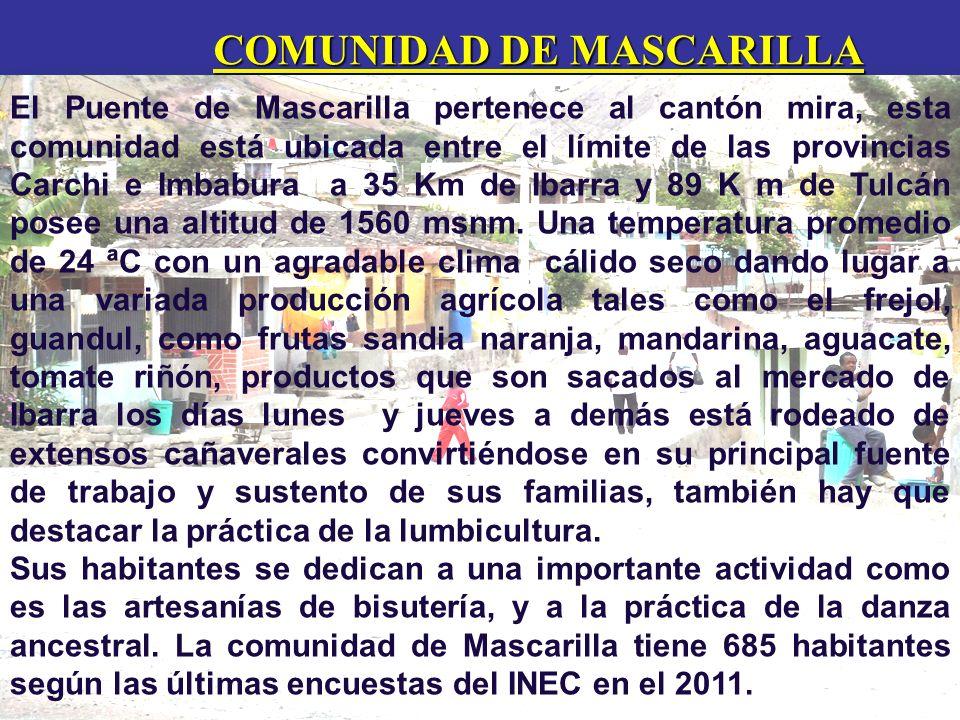 COMUNIDAD DE MASCARILLA