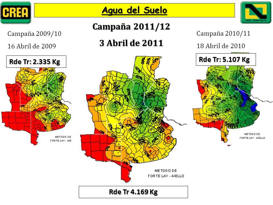 Agua del Suelo Campaña 2011/12 3 Abril de 2011 Rde Tr: 5.107 Kg