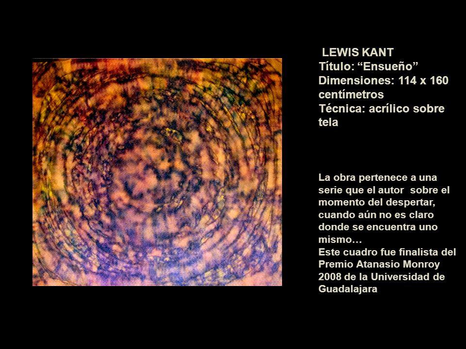 Dimensiones: 114 x 160 centímetros Técnica: acrílico sobre tela