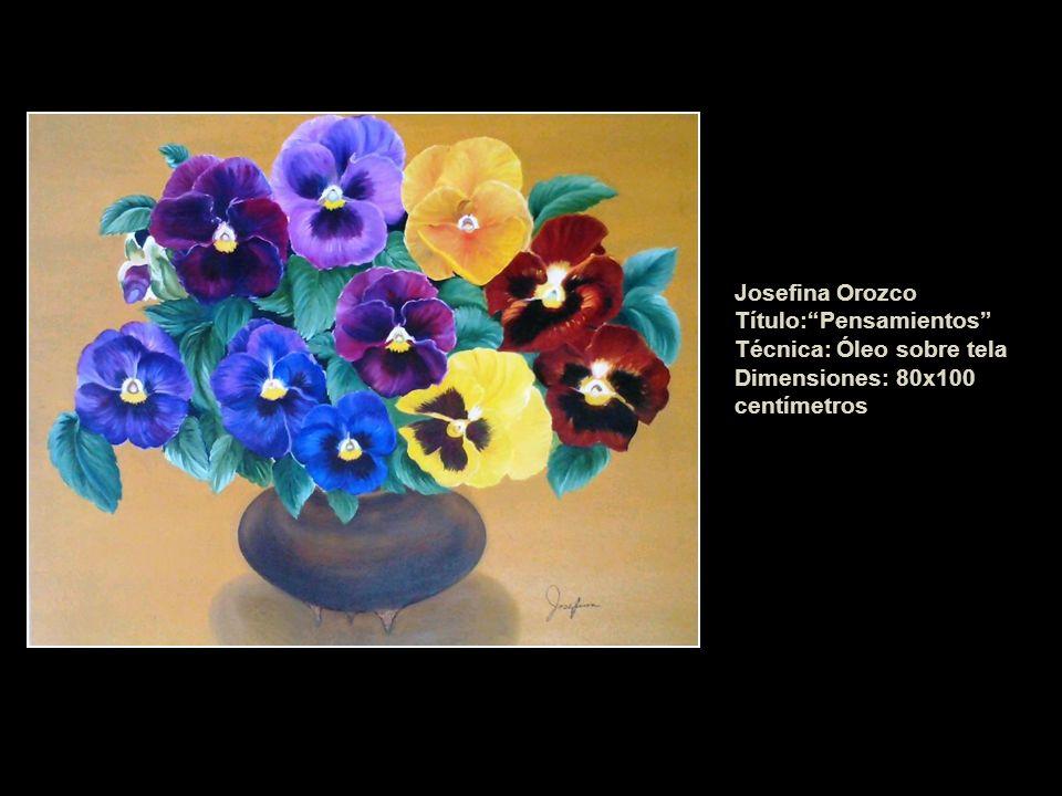 Josefina Orozco Título: Pensamientos Técnica: Óleo sobre tela Dimensiones: 80x100 centímetros