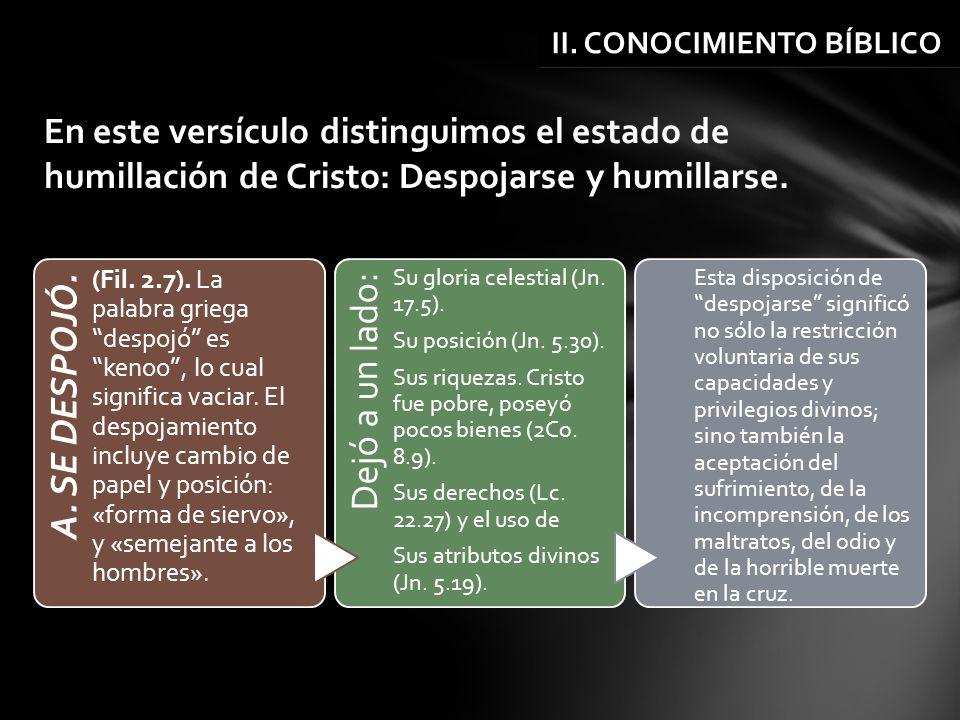 II. CONOCIMIENTO BÍBLICO