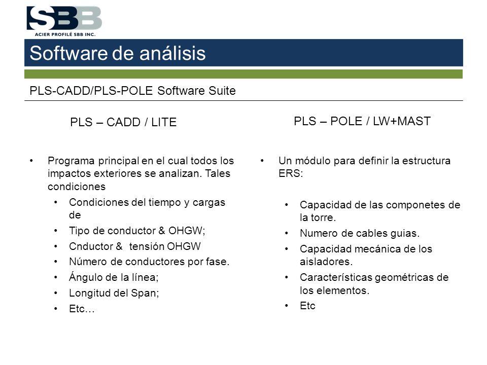 Software de análisis PLS-CADD/PLS-POLE Software Suite