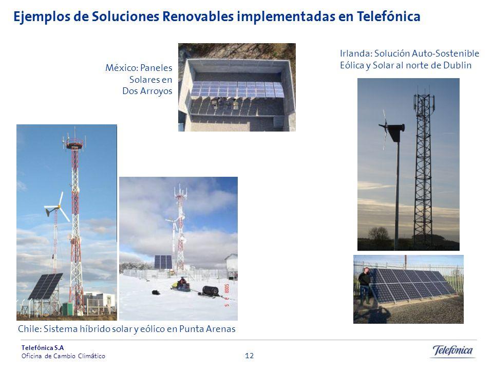 Ejemplos de Soluciones Renovables implementadas en Telefónica
