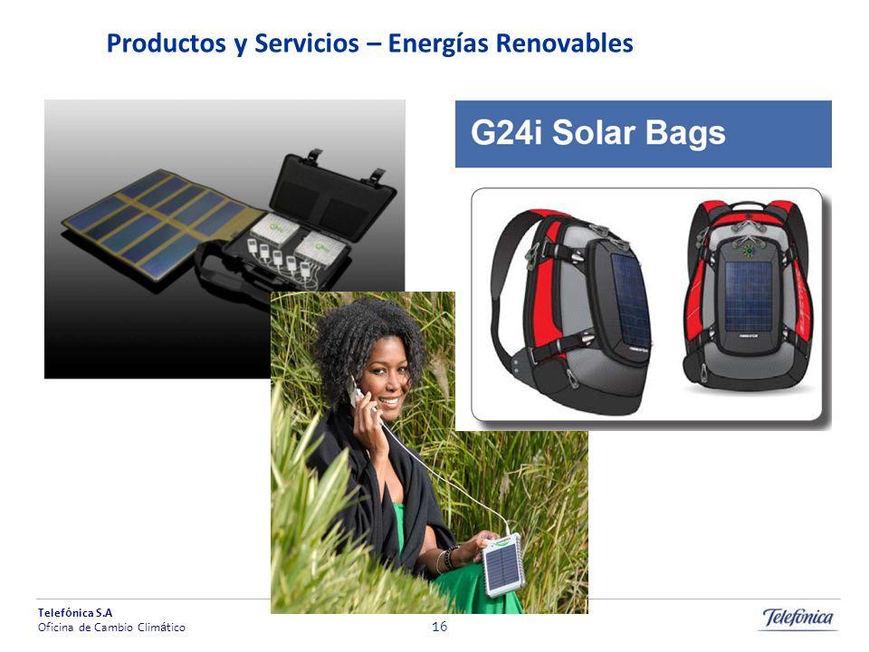 Productos y Servicios – Energías Renovables