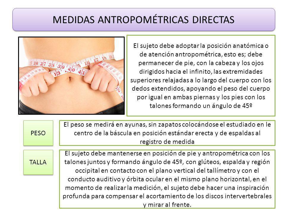 MEDIDAS ANTROPOMÉTRICAS DIRECTAS