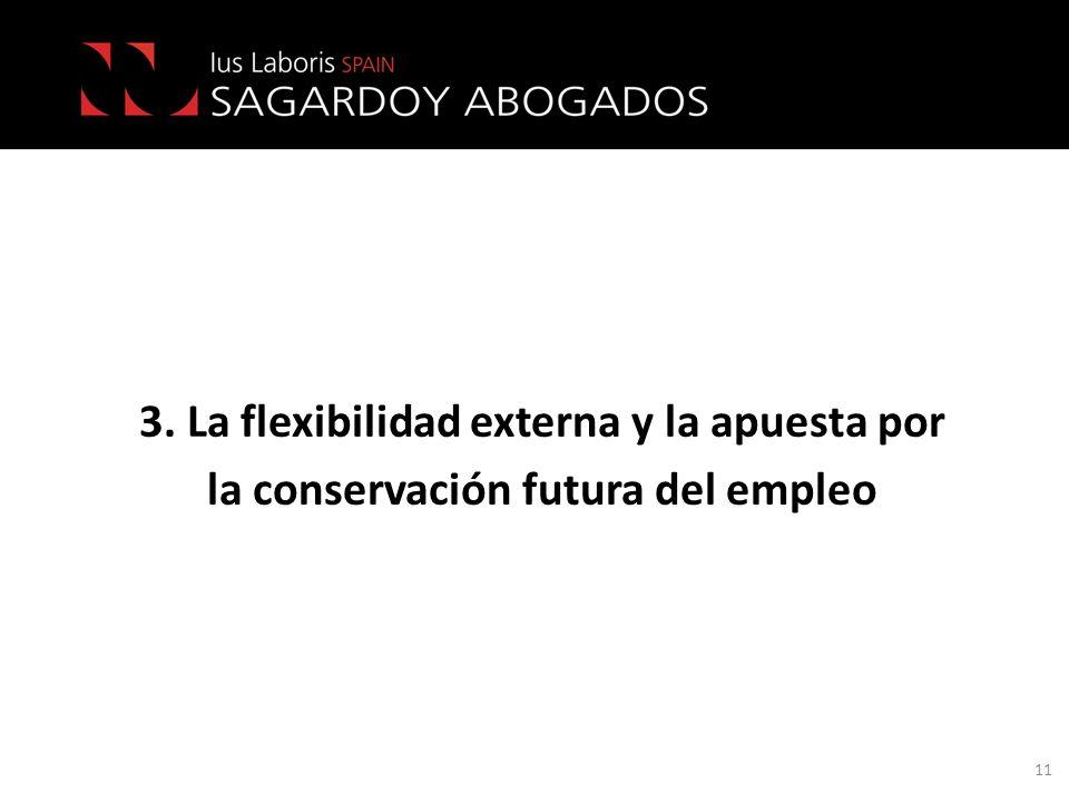 3. La flexibilidad externa y la apuesta por
