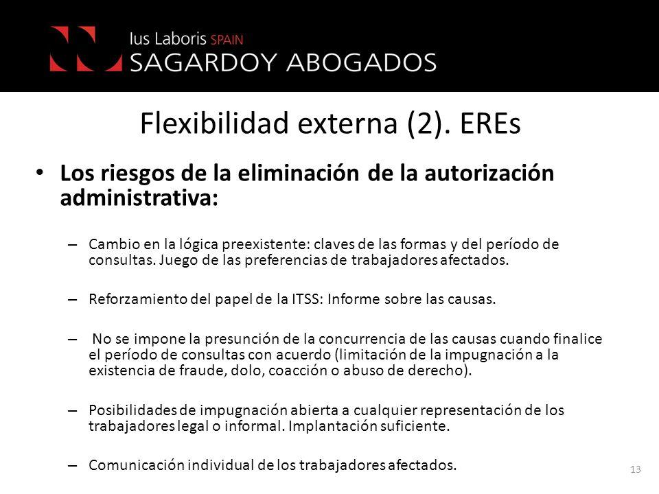Flexibilidad externa (2). EREs