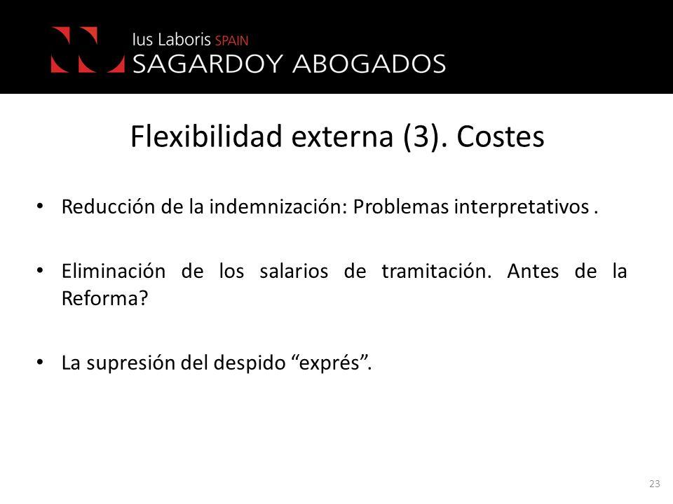 Flexibilidad externa (3). Costes