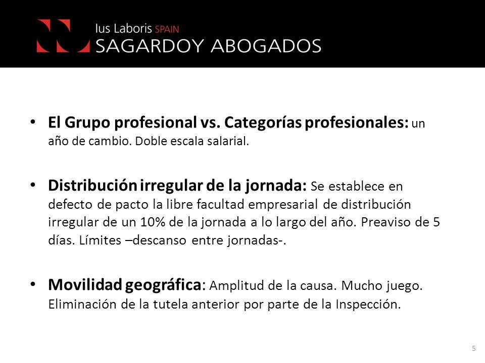El Grupo profesional vs. Categorías profesionales: un año de cambio