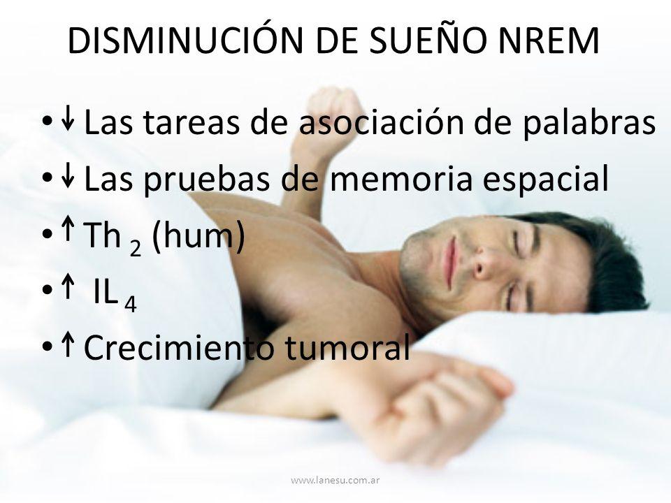 DISMINUCIÓN DE SUEÑO NREM