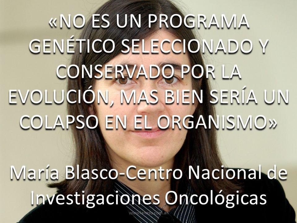 María Blasco-Centro Nacional de Investigaciones Oncológicas