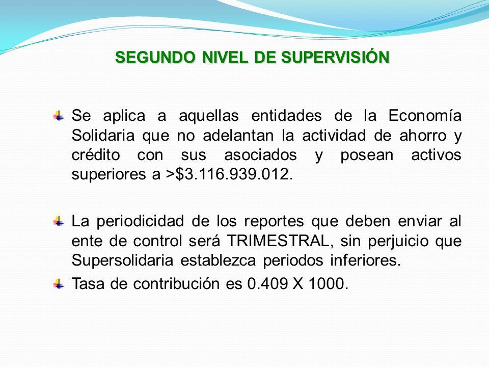 SEGUNDO NIVEL DE SUPERVISIÓN