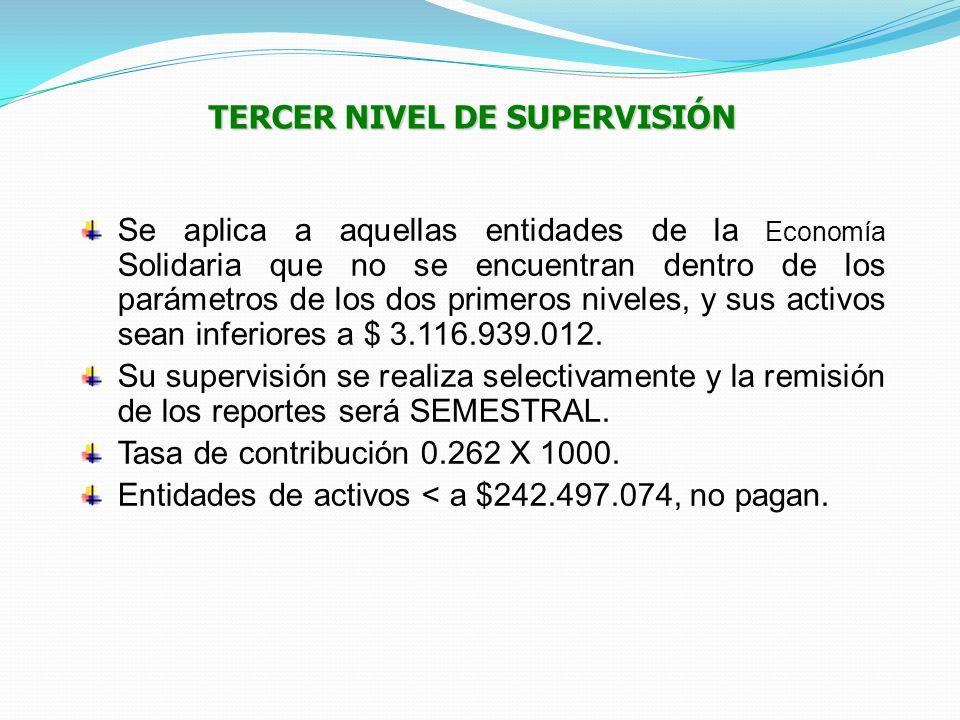 TERCER NIVEL DE SUPERVISIÓN