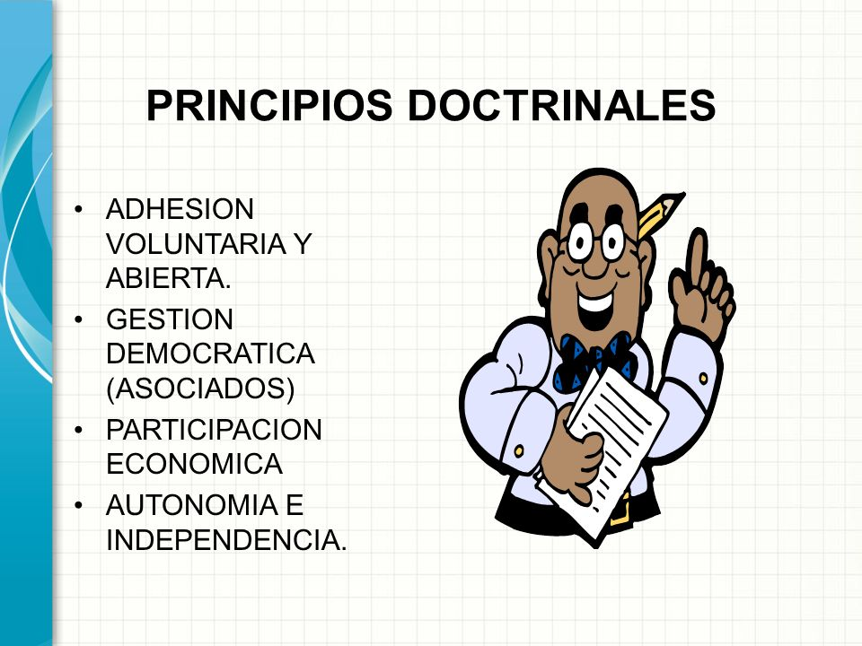 PRINCIPIOS DOCTRINALES
