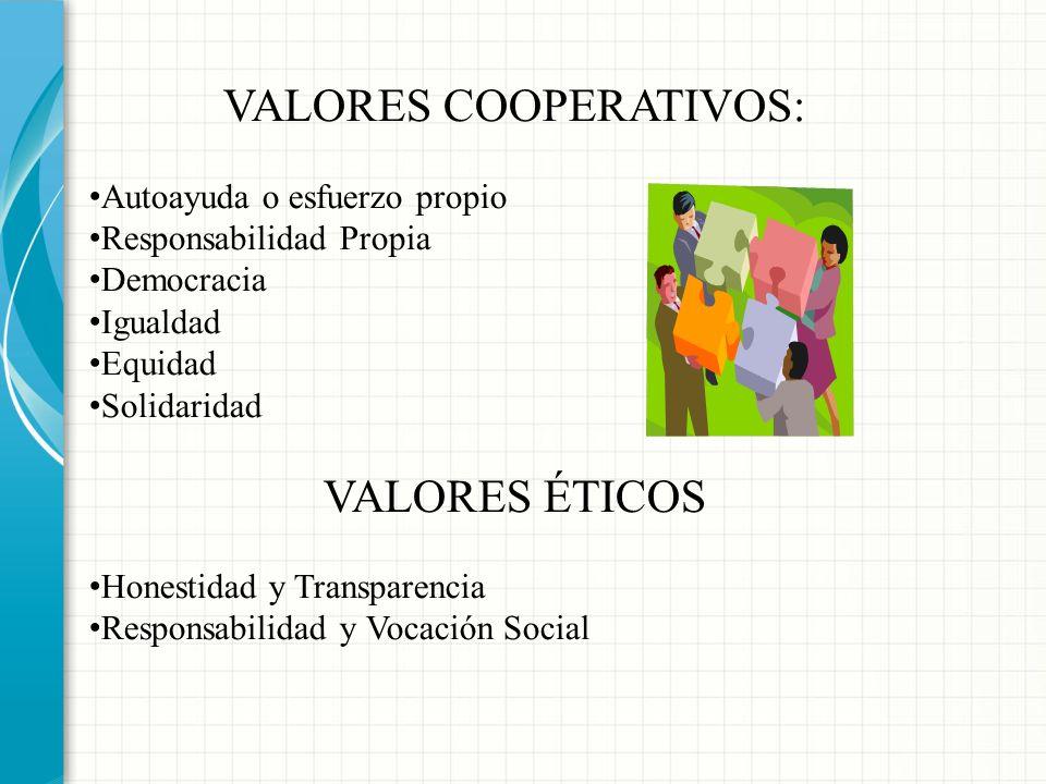 VALORES COOPERATIVOS: