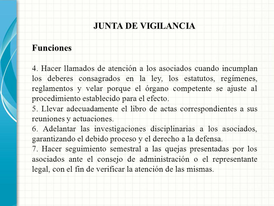 JUNTA DE VIGILANCIA Funciones