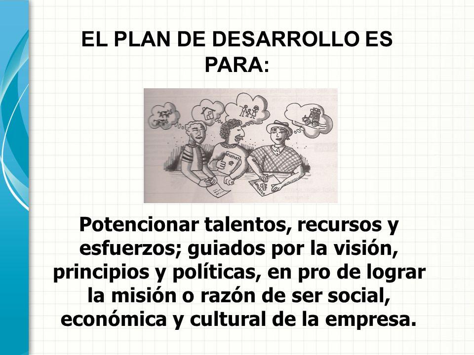 EL PLAN DE DESARROLLO ES PARA: