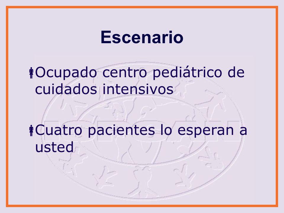 Escenario Ocupado centro pediátrico de cuidados intensivos