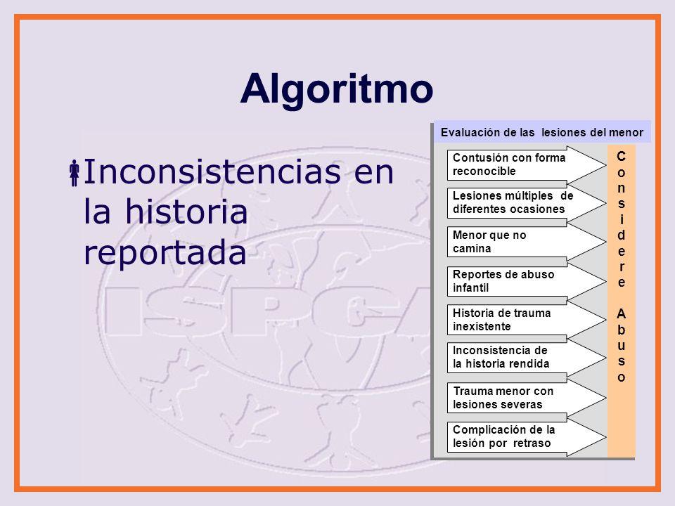 Algoritmo Inconsistencias en la historia reportada