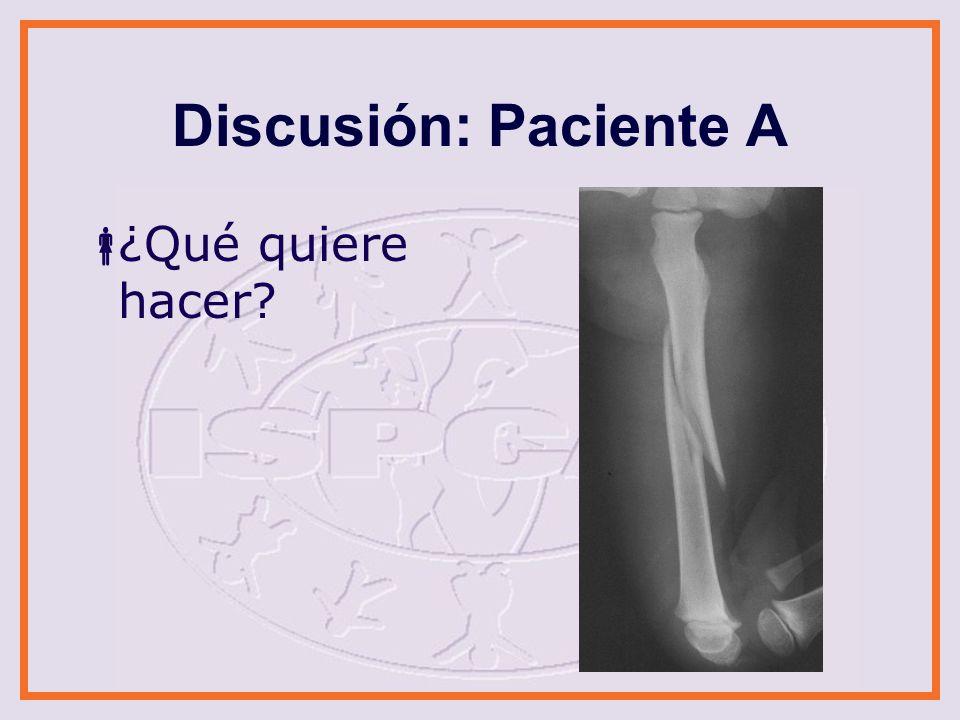 Discusión: Paciente A ¿Qué quiere hacer