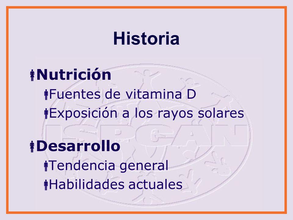 Historia Nutrición Desarrollo Fuentes de vitamina D