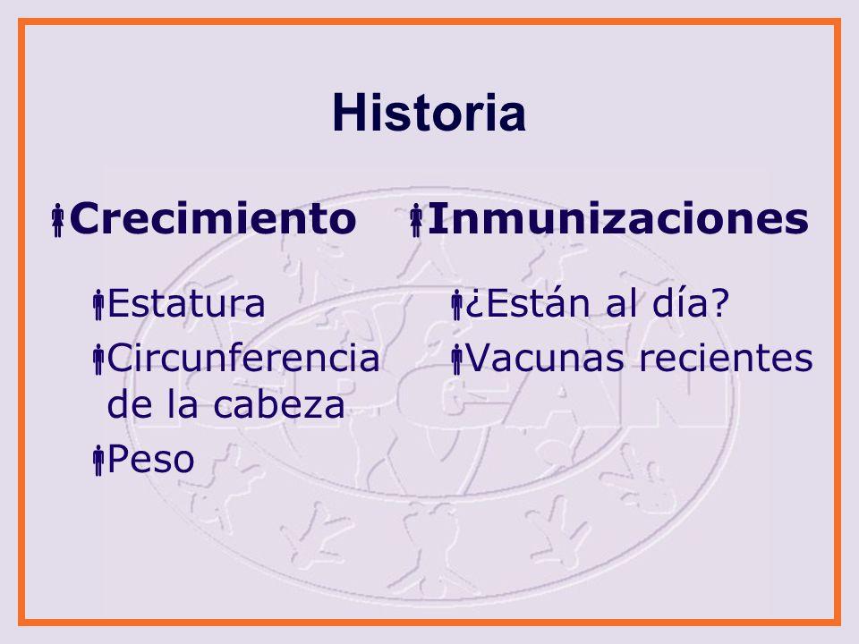 Historia Crecimiento Inmunizaciones Estatura