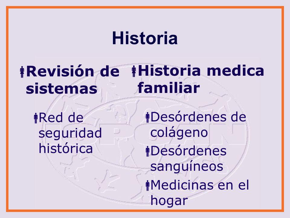 Historia Revisión de sistemas Historia medica familiar