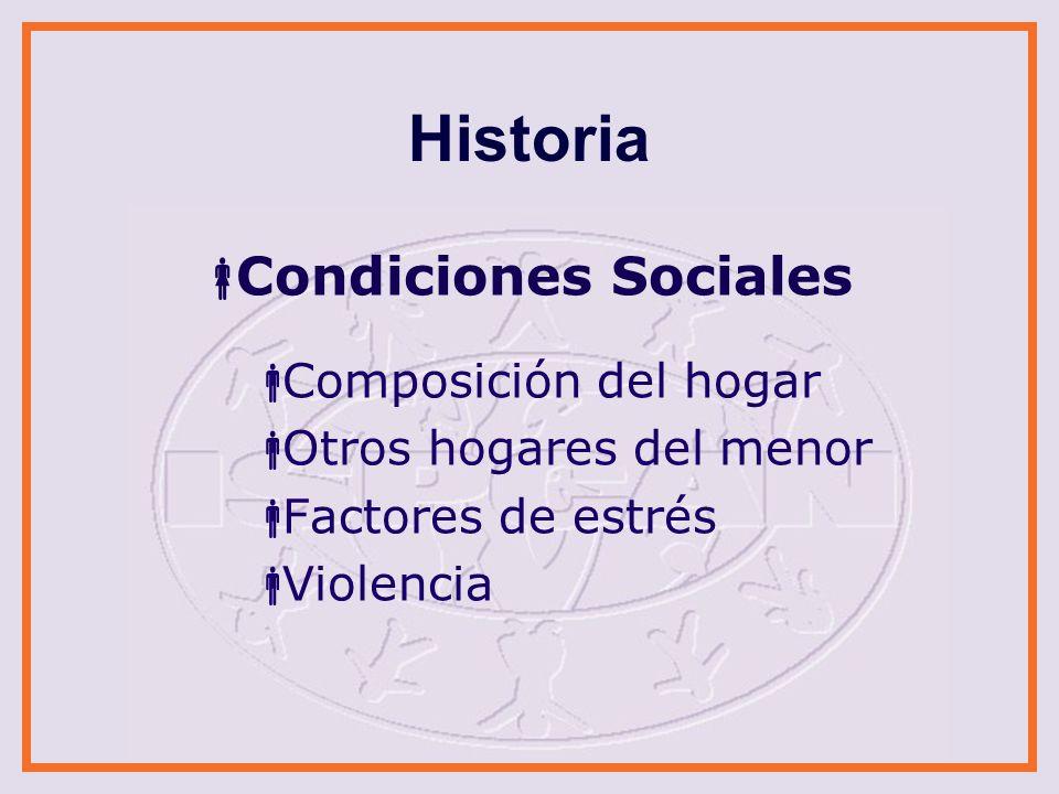 Historia Condiciones Sociales Composición del hogar