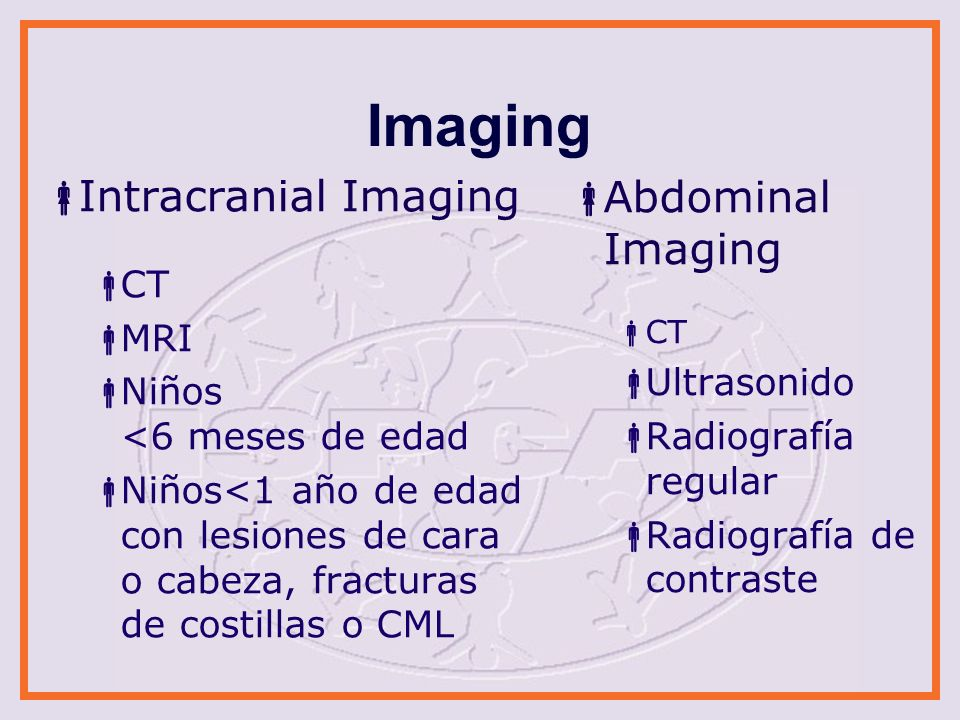 Imaging Intracranial Imaging Abdominal Imaging CT MRI Ultrasonido