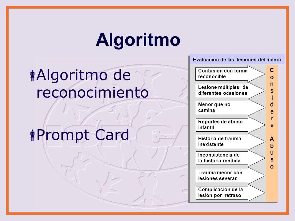 Algoritmo Algoritmo de reconocimiento Prompt Card Cons i de r e Abus o