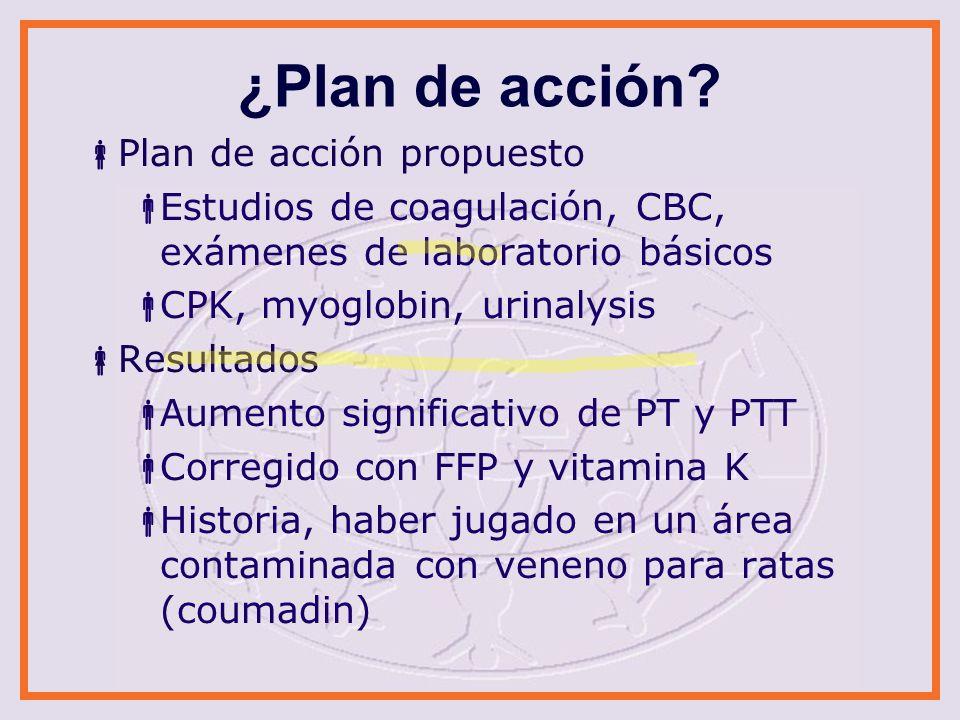 ¿Plan de acción Plan de acción propuesto