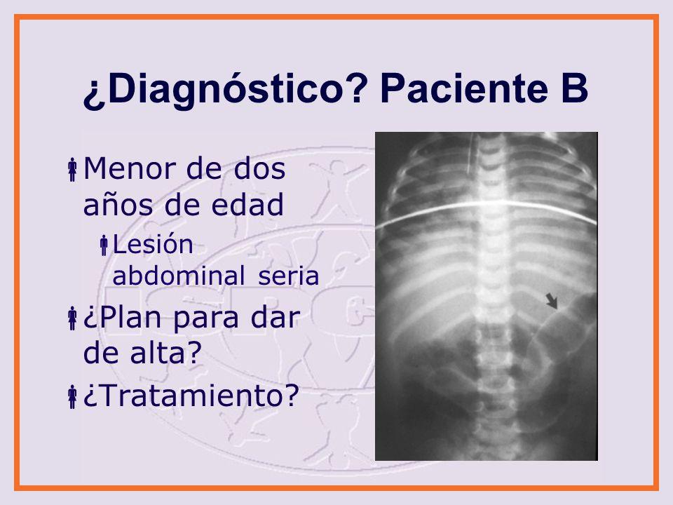 ¿Diagnóstico Paciente B