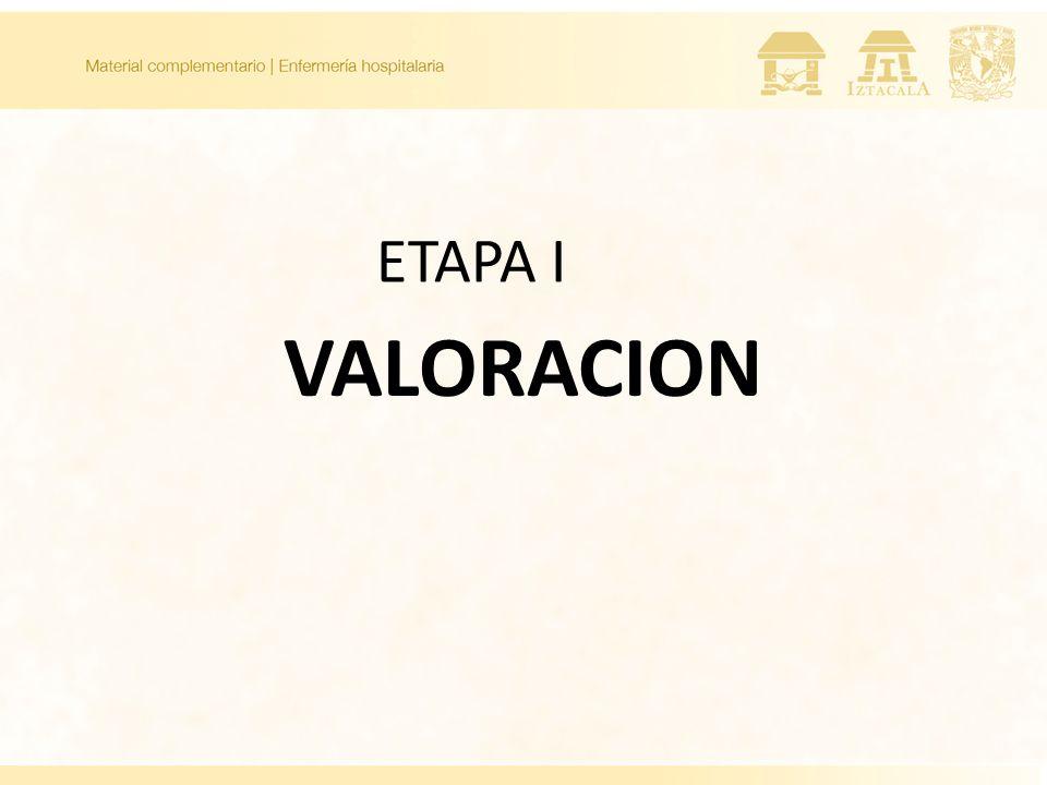 VALORACION ETAPA I