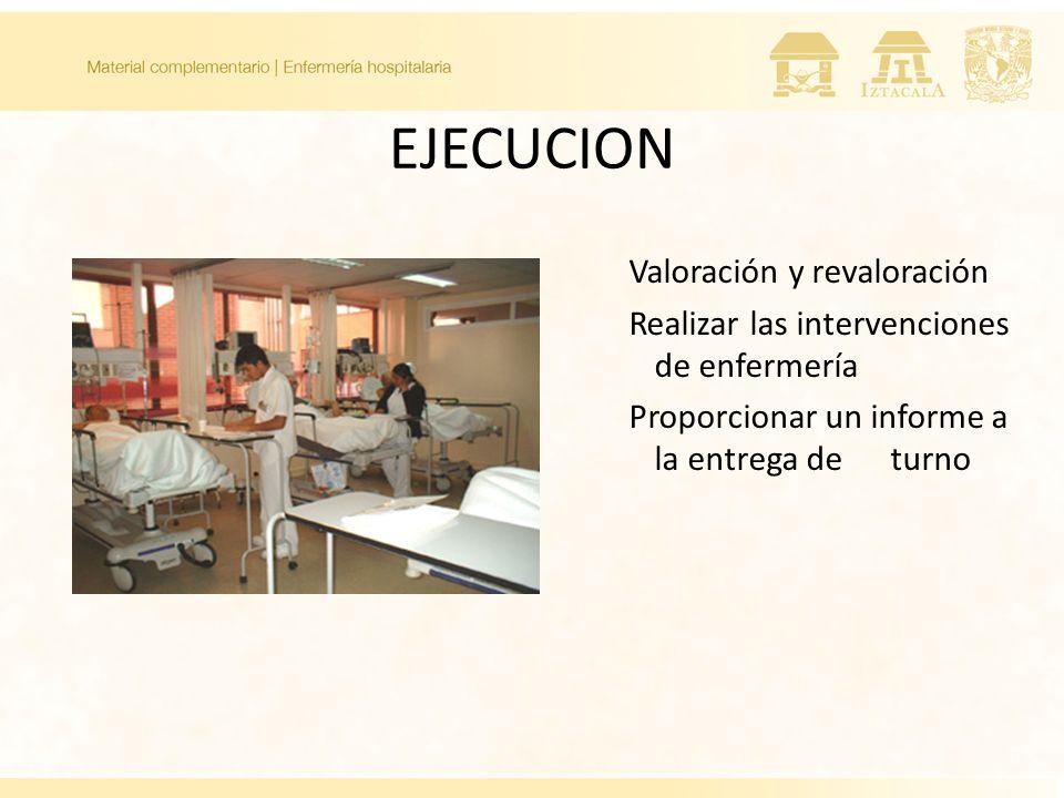 EJECUCION Valoración y revaloración