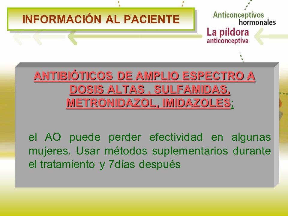INFORMACIÓN AL PACIENTE