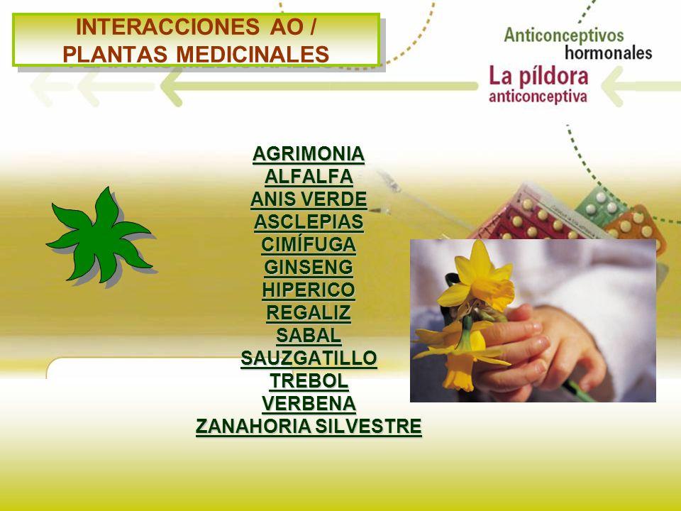 INTERACCIONES AO / PLANTAS MEDICINALES