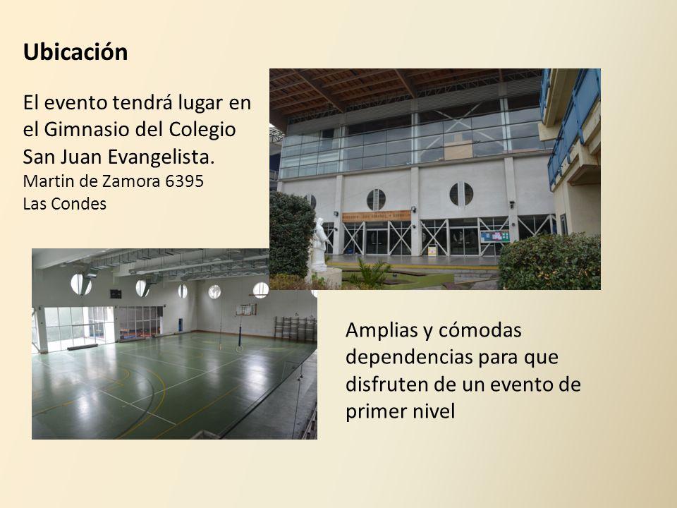 Ubicación El evento tendrá lugar en el Gimnasio del Colegio San Juan Evangelista. Martin de Zamora 6395.