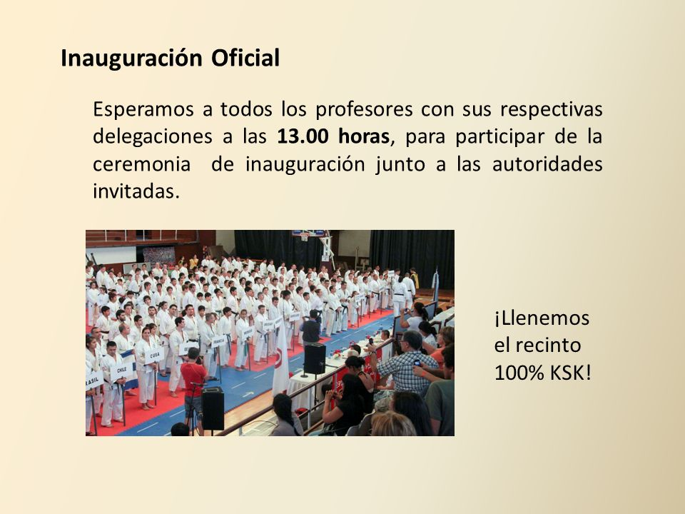 Inauguración Oficial