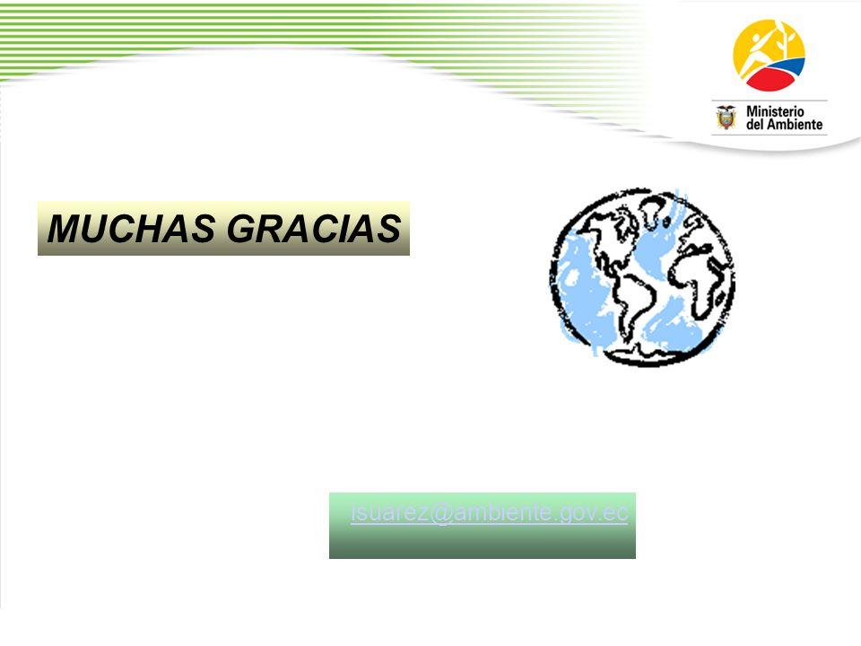 MUCHAS GRACIAS isuarez@ambiente.gov.ec